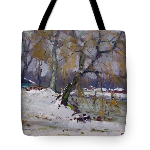 April Snow Storm Tote Bag