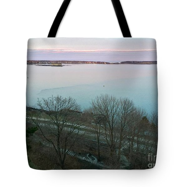 April Twilight On Casco Bay Tote Bag