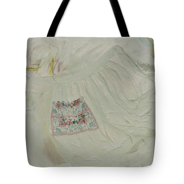 Apron On Canvas - Mixed Media Tote Bag