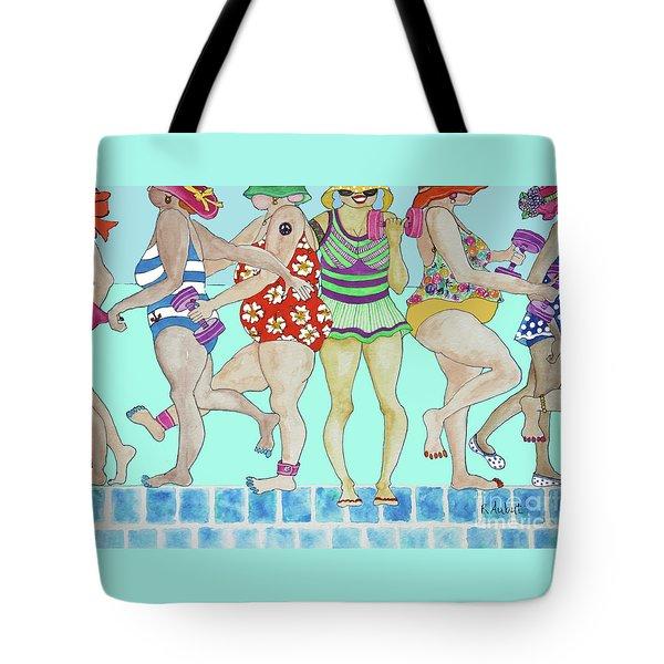 Aqua Babes Tote Bag