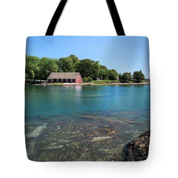 Aqua Bold Tote Bag