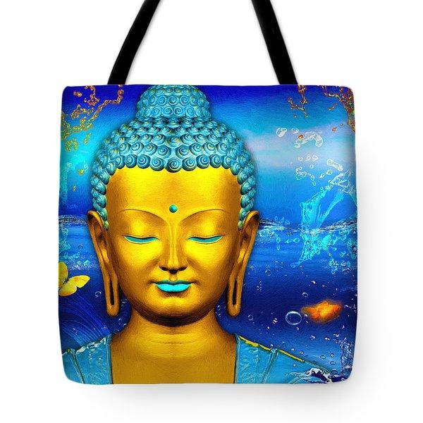 Aqua Buddha Tote Bag
