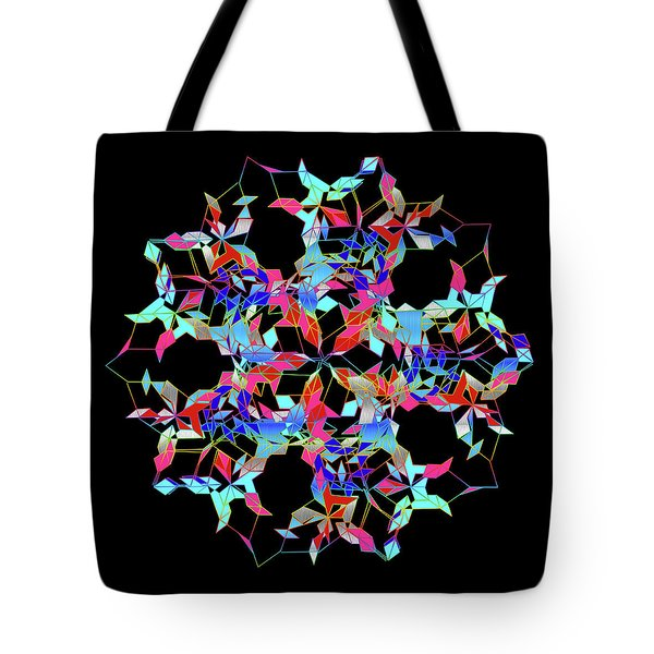 Tote Bag featuring the digital art Aqua Extreme Mandala by Becky Herrera