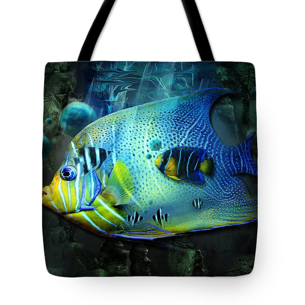 Aqua Fantasy Art World Tote Bag