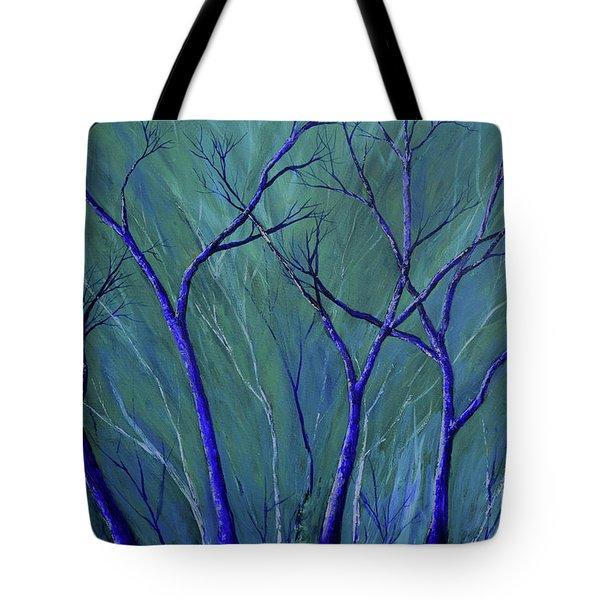 Aqua Forest Tote Bag