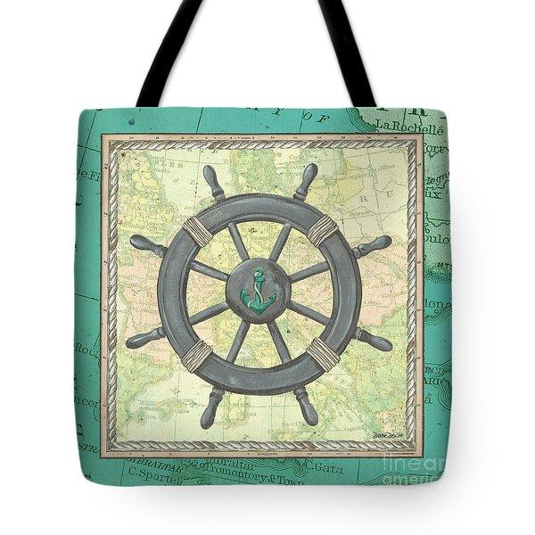 Aqua Maritime Tote Bag