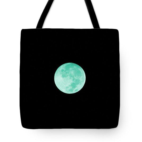 Aqua Moon Tote Bag
