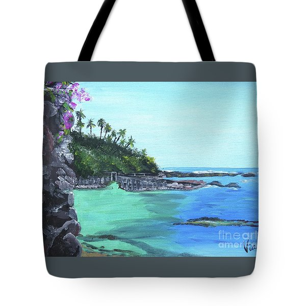 Aqua Passage Tote Bag by Judy Via-Wolff