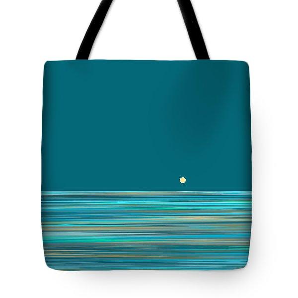 Tote Bag featuring the digital art Aqua Sea by Val Arie