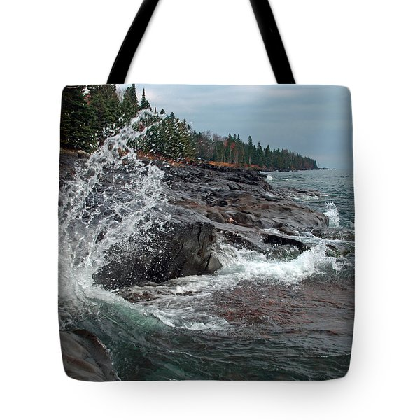 Tote Bag featuring the photograph Aqua Shore by James Peterson