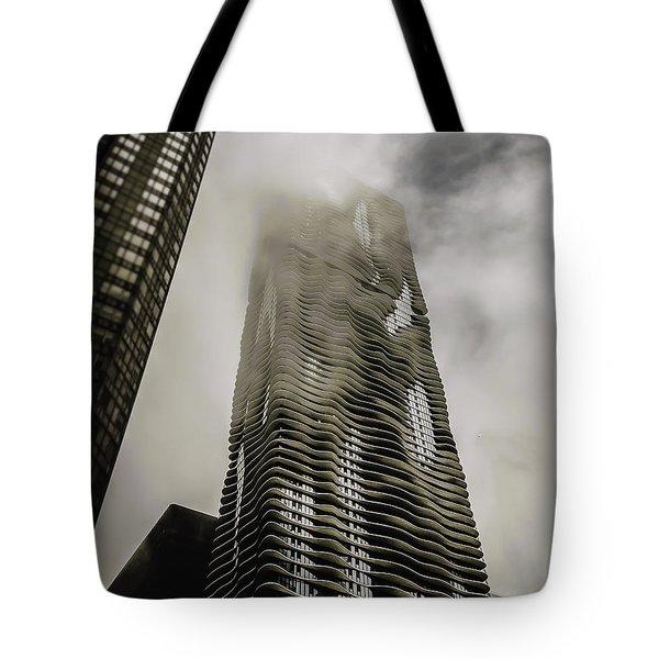 Aqua Skyscraper Tote Bag