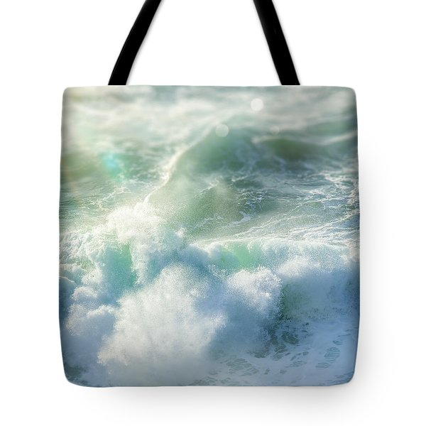 Tote Bag featuring the photograph Aqua Surge by Amy Weiss