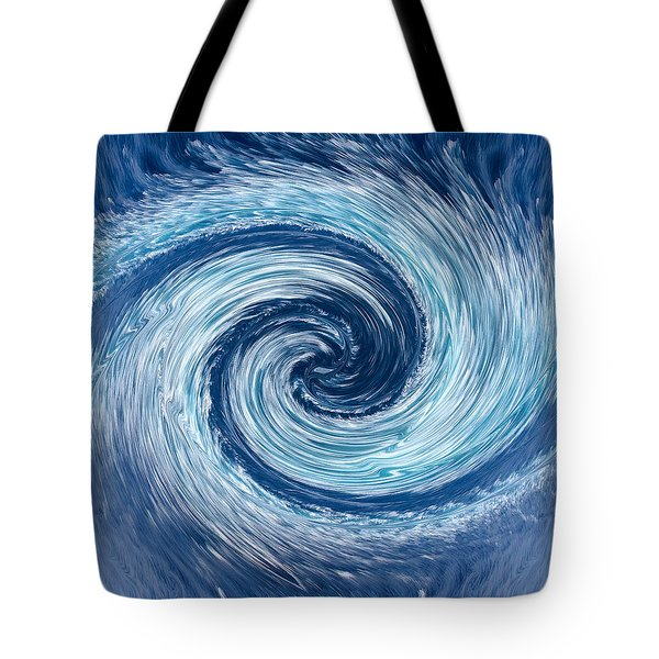 Aqua Swirl Tote Bag by Keith Armstrong