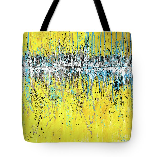 Tote Bag featuring the painting Aqua Viva by Annie Young Arts