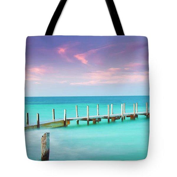 Aqua Waters  Tote Bag
