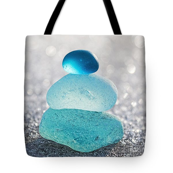 Aquamarine Ice Tote Bag
