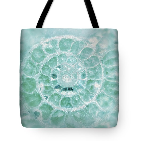 Aquamarine Seashell Fine Art Photograph Tote Bag