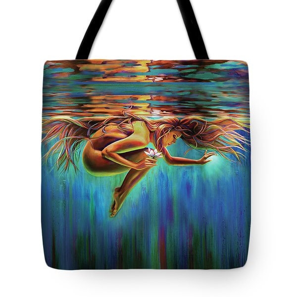 Aquarian Rebirth II Divine Feminine Consciousness Awakening Tote Bag