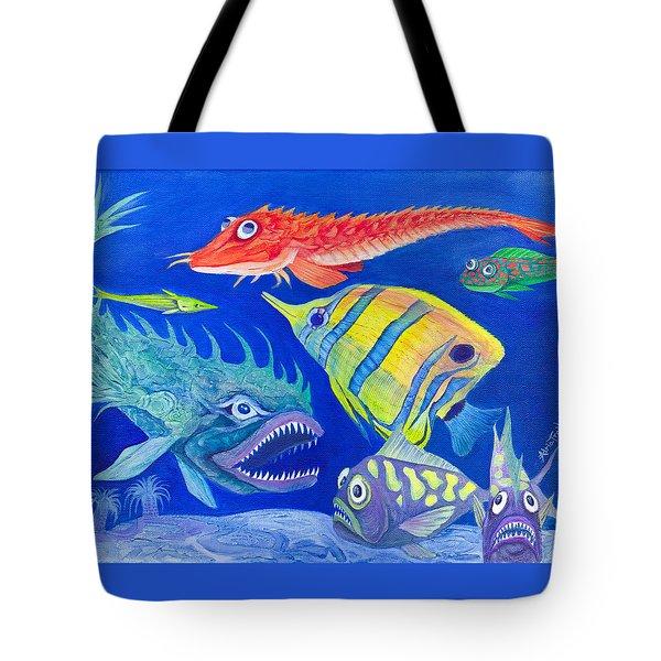 Aquarium 1 Tote Bag by Adria Trail
