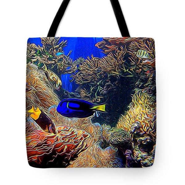 Aquarium Adventures In Abstract Tote Bag