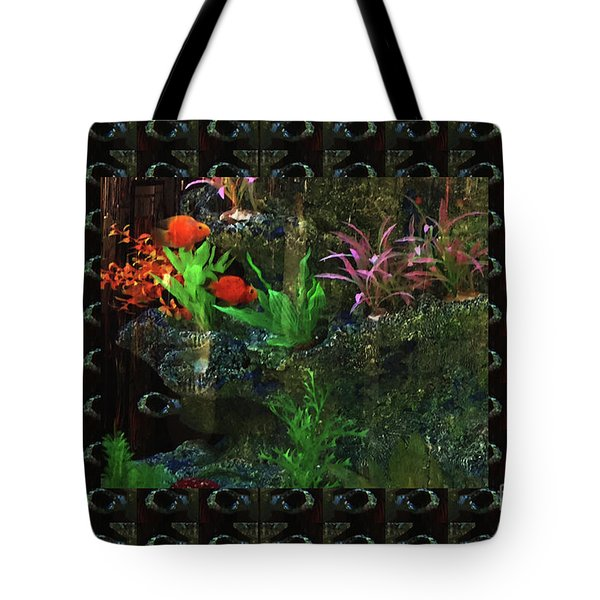 Tote Bag featuring the photograph Aquarium Kids Entertainment Posters Pod Gifts Pillows Tote Bags Towels Curtains Tshirts Greetingcard by Navin Joshi