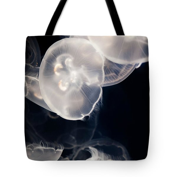 Tote Bag featuring the photograph Aquarium Of The Pacific Jumping Jellies by Kyle Hanson