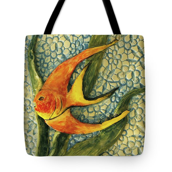 Aquarium On The Wall Tote Bag by Itzhak Richter