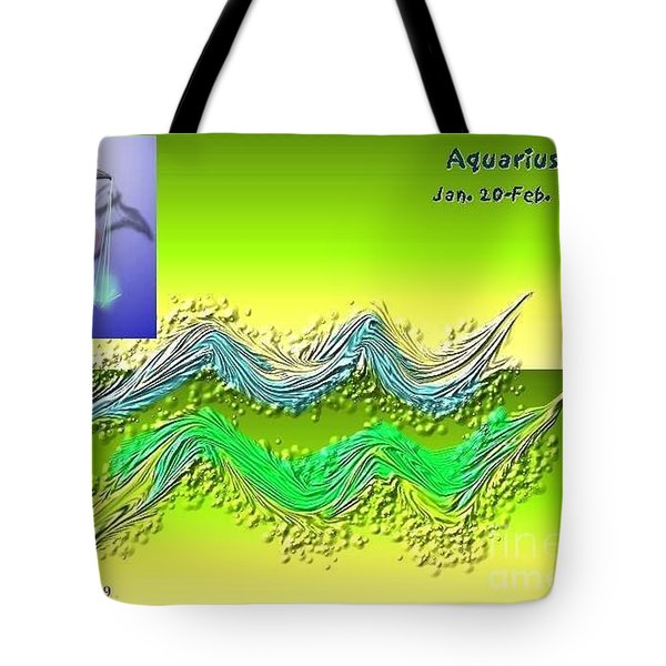 Tote Bag featuring the digital art Aquarius By Alice Terrill And Will Baumol by The Art of Alice Terrill