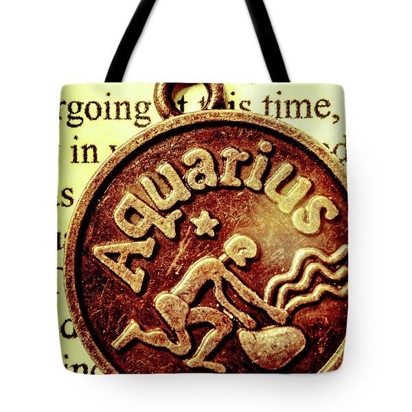 Tote Bag featuring the photograph Aquarius Zodiac Sign by Jorgo Photography - Wall Art Gallery