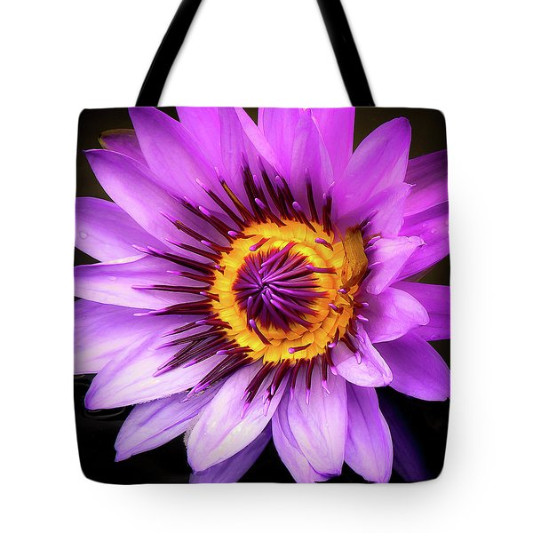 Aquatic Bloom In Lavender And Yellow Tote Bag
