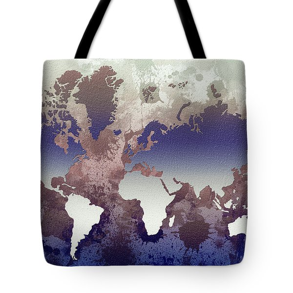 Aquatic World Map Tote Bag