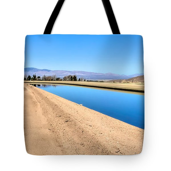 Aqueduct And The Tehachapi Mountains Tote Bag