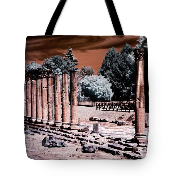 Tote Bag featuring the photograph Aquileia, Roman Forum by Helga Novelli
