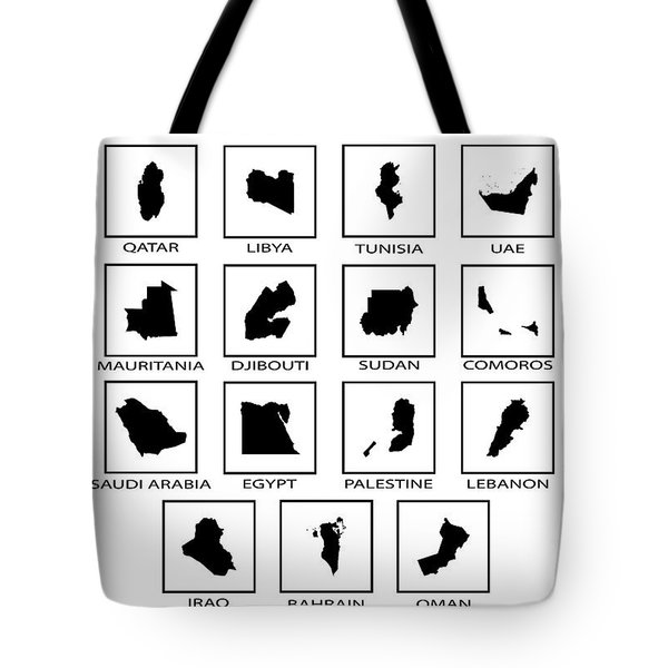 Arab League Countries Tote Bag