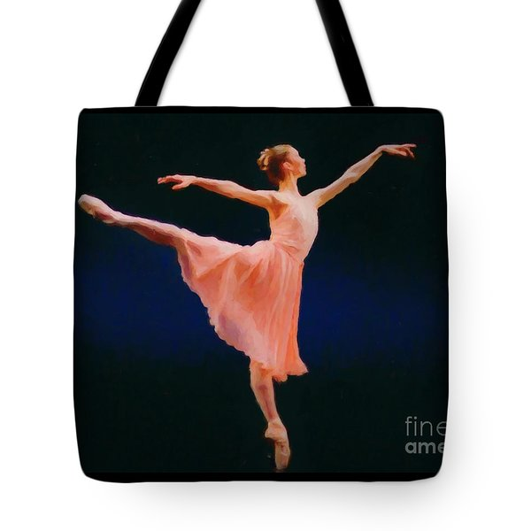 Tote Bag featuring the painting Arabesque by Rosario Piazza