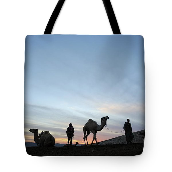 Arabian Camel At Sunset Tote Bag by PhotoStock-Israel