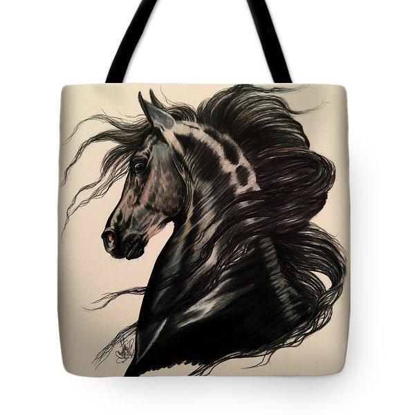 Arabian Grey On A Stormy Night Tote Bag