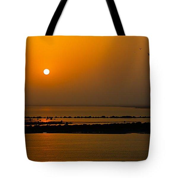 Arabian Gulf Sunset Tote Bag