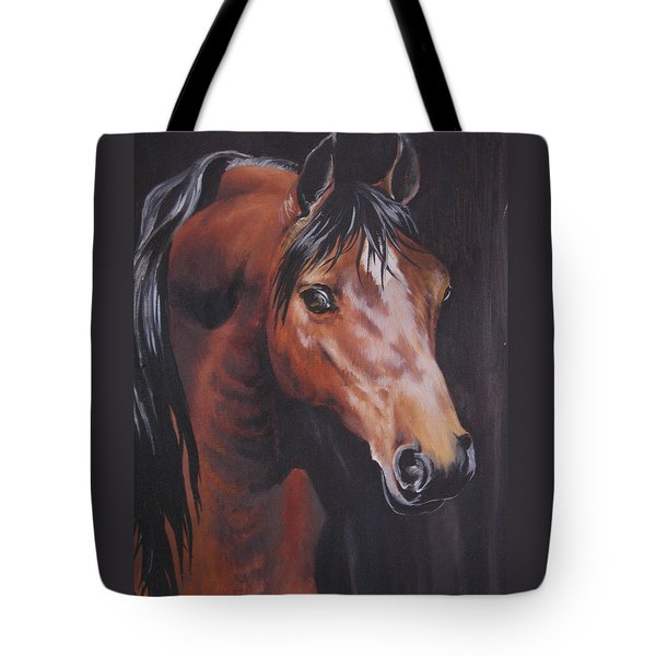 Arabian Horse 1 Tote Bag by Barbara Prestridge