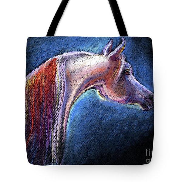 Arabian Horse Equine Painting Tote Bag by Svetlana Novikova