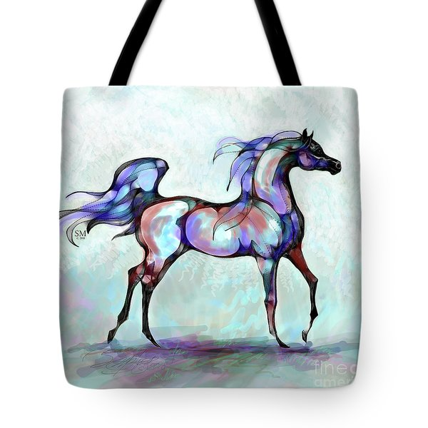 Arabian Horse Overlook Tote Bag