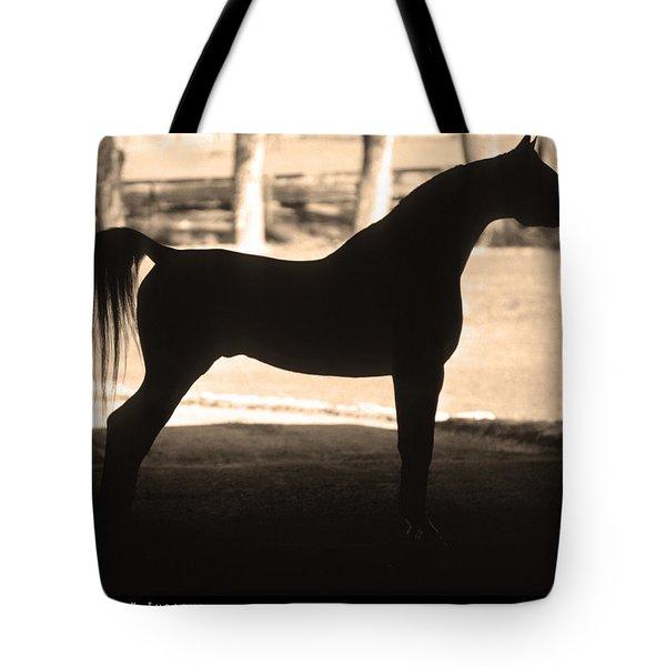 La silueta bolsa de la de asas la de caballo del la impresión sepia árabe de rrqFx7wH