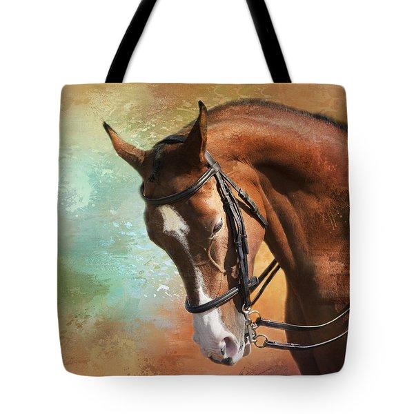 Arabian Horse Tote Bag by Theresa Tahara
