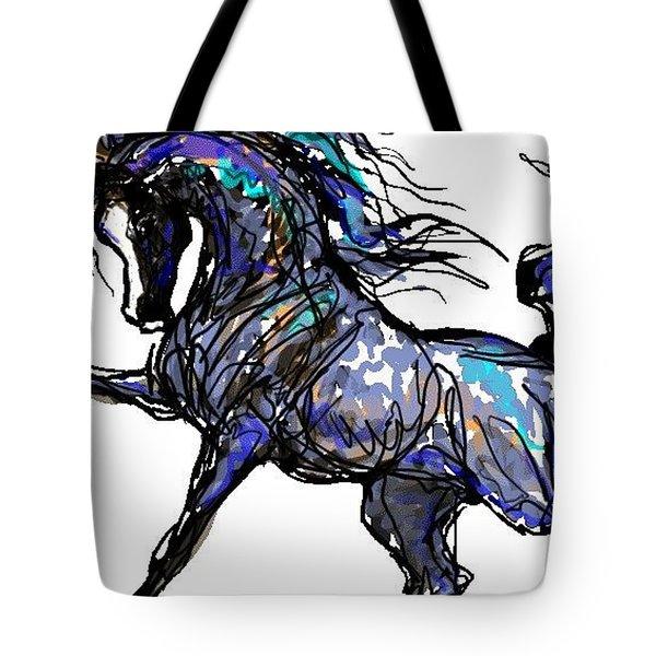 Arabian In Blue Tote Bag