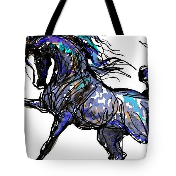 Arabian In Blue Tote Bag