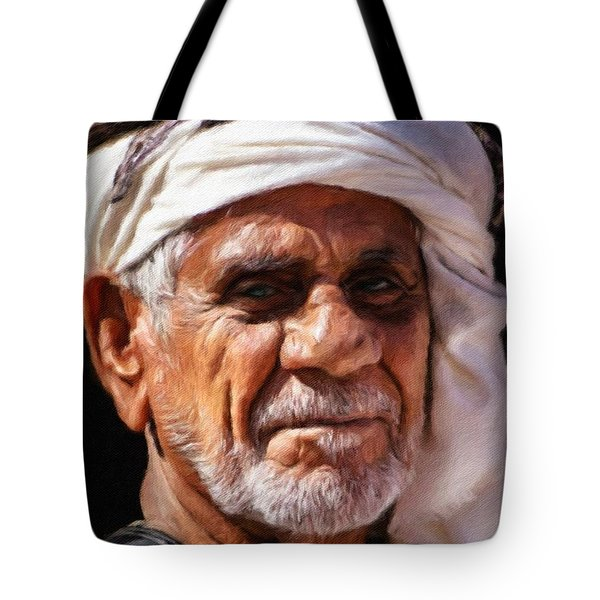 Arabian Old Man Tote Bag by Vincent Monozlay