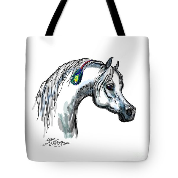 Arabian Peacock Feather Tote Bag