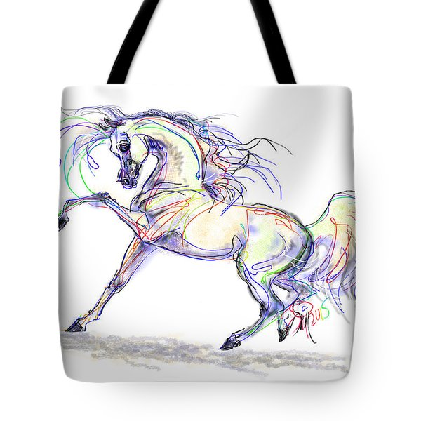 Arabian Stallion Talk Tote Bag