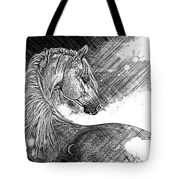 Arabian Sunrise Sketch Tote Bag