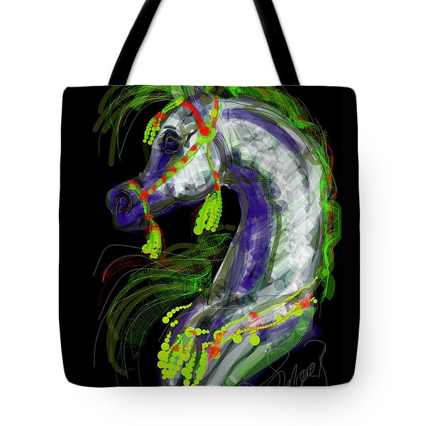 Arabian With Green Tassles Tote Bag